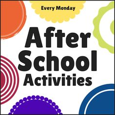 Top After School Activities for Kids featured at The Educators' Spin On It