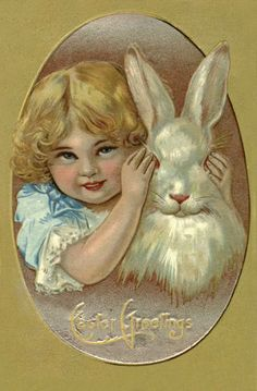 Old Easter Post Card — Easter greetings  (427×650)
