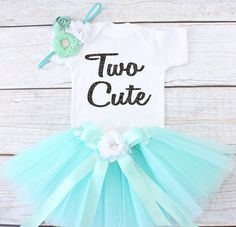 Two and Sassy. Girls Birthday Tutu Outfit. Two Year Old Birthday Outfit. This set includes one tutu with ribbon and flower accent, one elastic flowered headband and one onesie/shirt with wording Two Cute  ***********************************************************************************  HOW TO ORDER:  1. Select the SIZE and TUTU/HEADBAND COLOR you would like from the drop down boxes. 2. If you would like a FONT COLOR other then the one that is shown in the demo photo then you will...