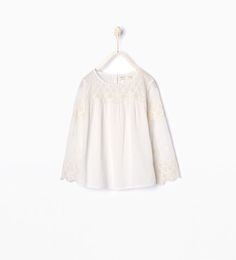 Image 1 of Embroidered T-shirt from Zara