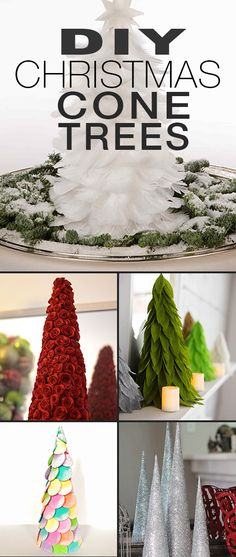 diy christmas cone trees christmas cone tree projects and instructions including a template