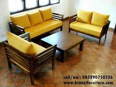 Wood sofa set & Simple, beautiful and functional; today presented examples of furniture made with teak wood. We encourage you& The post Affordable and Nice Wood Sofa Set appeared first on Home Decorations. Furniture Sofa Set, Living Furniture, Home Decor Furniture, Hall Furniture, Furniture Removal, Wooden Furniture, Luxury Furniture, Outdoor Furniture, Sala Set
