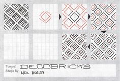 Decobricks - tangle pattern by perfectly4med, via Flickr