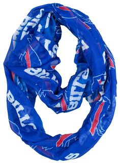 f03adf16e Officially licensed Buffalo Bills infinity scarf Made from a sheer fabric  Printed with your favorite team s logo Lightweight scarf can be worn in  multiple ...
