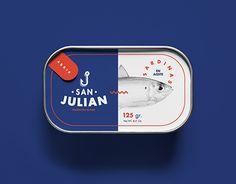 Diseño de marca y packaging para pescadería San Julian.