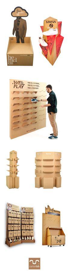 product display exhibitor | plv expositores de producto | diseño en cartón Cardboard Design.