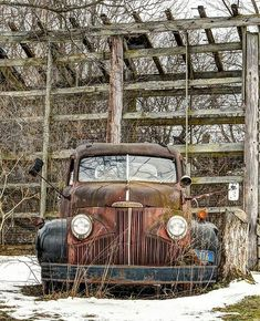 Studebaker - These days, approaching some old farmer about an old truck on his… Old Pickup Trucks, Farm Trucks, Cool Trucks, Antique Trucks, Vintage Trucks, Antique Cars, Classic Trucks, Classic Cars, Abandoned Cars