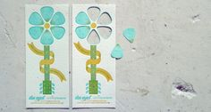 """""""This guitar flower is printed on custom seafoam-colored paper that is embedded with wildflower seeds with die-cut picks that can actually be punched out and planted!"""" ~ Doe Eyed / Design + Print Studio collaboration w Porridge Paper for Eric Clapton's Crossroads Guitar Festival"""
