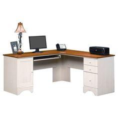 Sauder Harbor View Corner Computer Desk & Reviews | Wayfair