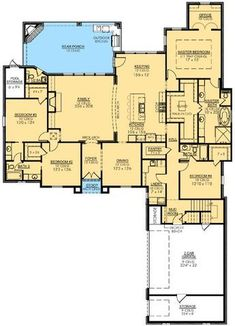 Plan Fab 4 Bed French Country - My Kitchen Home Nice New House Plans, Dream House Plans, House Floor Plans, Master Suite, Master Bath, Master Closet, Master Bedroom, French Country Bedrooms, Country French