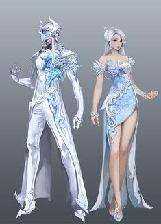 Aion aion art, character design at fantasy characters Character Concept, Character Art, Concept Art, Illustration Fantasy, Frozen Cosplay, M Anime, Drawing Clothes, Character Outfits, Anime Outfits