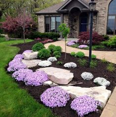 landscape plans Front Yard Landscaping Ideas - Brilliant Front Yard as well as Landscaping Projects You'll Love. Creative Front Yard Landscape Design Ideas as well as Yard Layo Small Front Yard Landscaping, Outdoor Landscaping, Outdoor Gardens, Corner Landscaping Ideas, Front Yard Gardens, Front Yard Ideas, Azaleas Landscaping, Front Yard Decor, Inexpensive Landscaping