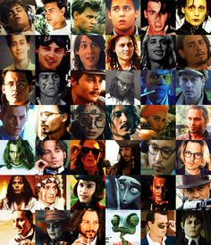 Epic. Johnny Depp movie character face collage!
