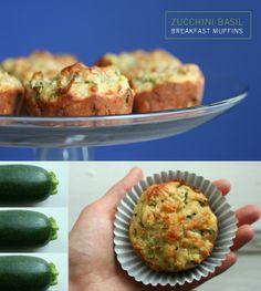 Zucchini basil breakfast muffins