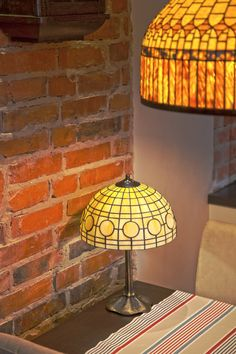 Stained glass table or bedside lamp. Shabby chic by WPworkshop