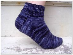 Think this will be my next project! free easy knitting sock pattern