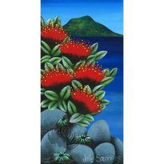 Julie Saunders | Pohutukawa Gallery Maori Legends, Thinking In Pictures, New Zealand Art, Nz Art, Celebrating Christmas, Maori Art, Kiwiana, Flower Paintings, Creative Thinking