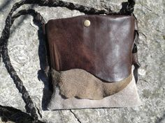Leather Purse Bag / Crossbody Purse / Southwestern Hippie Bags / LunaBagDesigns