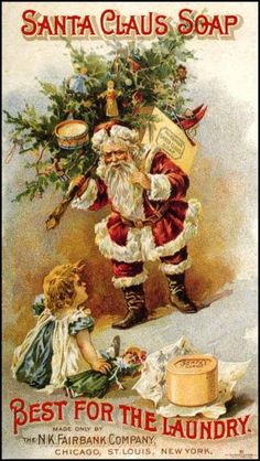 2013 Vintage Christmas Cards and Illustrations: Vintage Santa Claus Laundry Soap Advertisement