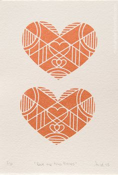 'Love me two times' by picturette Limited Edition Silkscreen Print