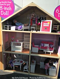 "My Girl's Doll House for 18"" dolls - good for inspiration"