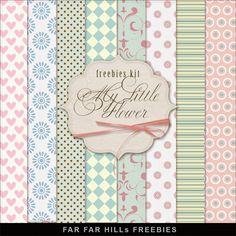 Far Far Hill: New Freebies Kit of Backgrounds - My Little Flower...