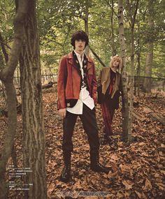 Male Fashion Trends: Jacob Morton y Reuben Ramacher para Essential Homme por Riccardo Vimercati