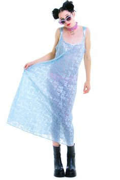 Vintage Sheer Baby Blue Maxi - One Size Fits Many