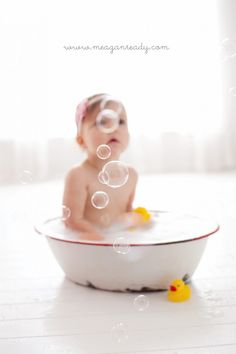 Another one of my favorites from Megan Ready Photography  Love and gonna do with Gavin at 18 months, just the bath.  Love this for 1 year cake smash sessions then bubble baths after though!  Love!