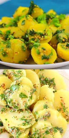 A simple vegan French potato salad recipe made with a tangy, grainy Dijon mustard vinaigrette and fragrant fresh herbs. A simple vegan French potato salad recipe made with a tangy, grainy Dijon mustard vinaigrette and fragrant fresh herbs. French Potato Salad, French Potatoes, Potato Salad Mustard, Vegetarian Recipes, Cooking Recipes, Healthy Recipes, Cooking Videos, Cooking Okra, Budget Cooking