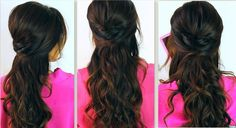 CrissCross Half-Updo |Long Hair Tutorial