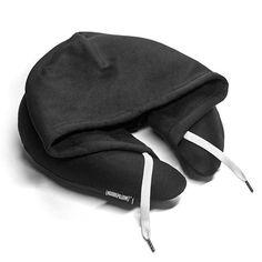 citiesocial – 連帽充氣枕 - 黑色