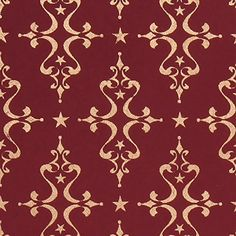 Gift Wrap - Etoile (Gold on Maroon) -- Read more at the image link.