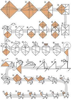 Origami Guide, Origami Set, Origami And Kirigami, Useful Origami, Origami Paper, Origami Instructions, Origami Tutorial, Sticky Note Origami, Origami Diagrams