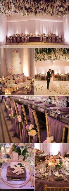 Featured Photographer: Victor Sizemore Photography; gorgeous purple wedding reception details