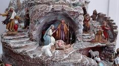 Nativity Scenes, Model Trains, Caves, Dyi, Lion Sculpture, Christmas Decorations, Around The Worlds, Seasons, Statue