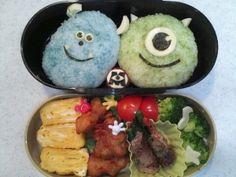 rice ball 「マイク&サリーのキャラ弁♪」息子のお弁当に~☆【楽天レシピ】