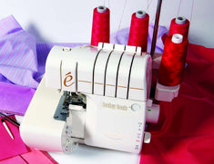 Sewing Tutorial: Four Serging Techniques - Threads Magazine article] Pamela Leggett explains how to use your serger to create gathers, pretty lettuce edging, and how to properly serge corners and curves. Serger Stitches, Serger Thread, Serger Sewing, Fabric Sewing, Sewing Hacks, Sewing Tutorials, Sewing Crafts, Sewing Patterns, Sewing Tips