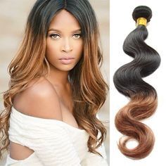 4Bundles 1B/30# Ombre Real Human Hair Extensions High Quality Hot Sale Hair Weft #WIGISS