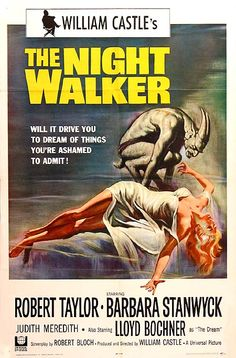 """MP343. """"The Night Walker"""" Movie Poster by Reynold Brown (William Castle 1964) / #Movieposter"""