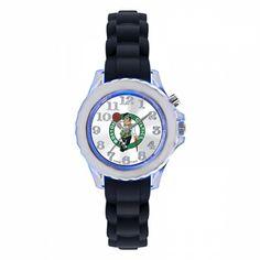 Boston Celtics Kids Black Flash Watch