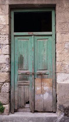 Greece old door rethymnon