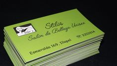 Tarjeta de presentación, Salón de Belleza Unisex Stilo's Diseños e Impresiones Peña dimpena Valparaíso, Chile