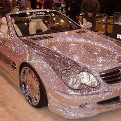 I'm sure I can find a pink glitter dress to wear while driving this :). OH MY GOODNESS! Now that is bling bling sparkle sparkle! My Dream Car, Dream Cars, Dream Big, Jaguar, Bling Bling, Bling Car, Mercedez Benz, Pt Cruiser, Cute Cars