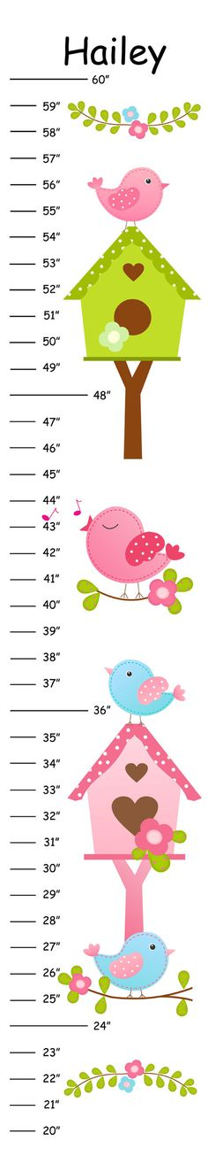 Personalized Birds and Bird Houses Canvas Growth by 123growwithme, $25.00