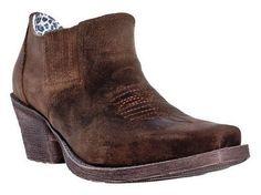 Dingo Women's Jodi Leather Cowboy Western Ankle Boots Tan Vintage DI 402 #Dingo #CowboyWestern