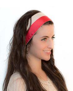 Items similar to Women Adult Headband Diadem Fuchsia Pink Satin Band - Hair  Bands for Wigs Wrap - Tie On Turban Headbands Fall Hairbands Tie On Head  Band on ... e22e7b3aa747