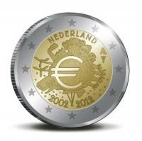 "Nederland bijzondere 2 Euromunten - Nederland 2 Euro 2012 ""10 jaar Euro"""