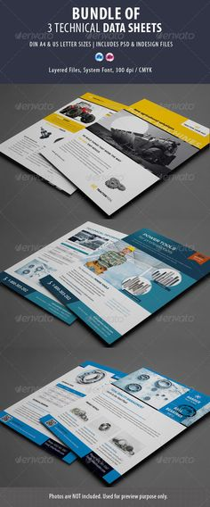 3 Technical Data Sheets Flyer Bundle Template PSD | Buy and Download: http://graphicriver.net/item/3-technical-data-sheets-bundle/8622644?WT.ac=category_thumb&WT.z_author=corrella&ref=ksioks