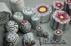 Maneki Neko polymer clay canes by me (Fata Bislacca)